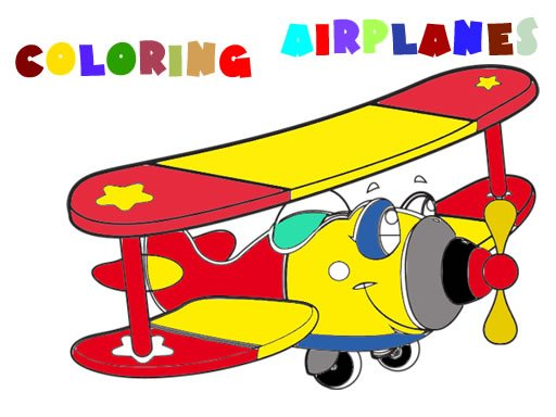 Play Coloring Book- Airplane V 2.0 Game