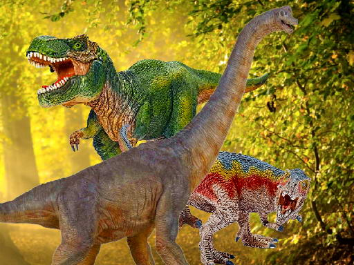 Play World of Dinosaurs Jigsaw Game