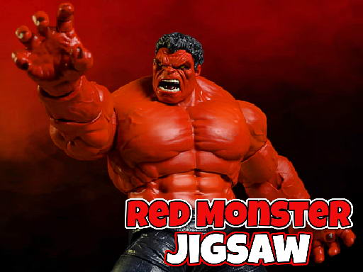Play Red Monster Jigsaw Game