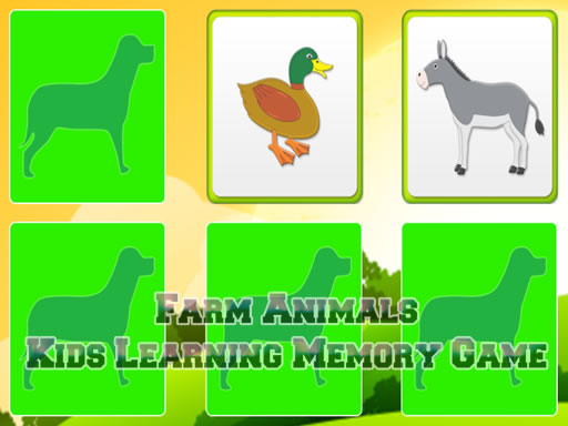 Play Kids Learning Farm Animals Game