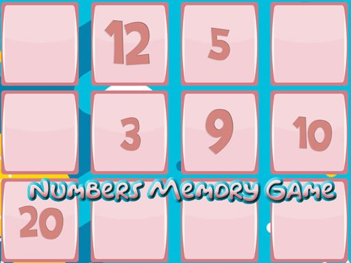 Play Memory Game With Numbers Game