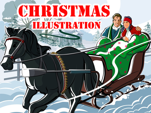 Play Christmas Illustration Puzzle Game