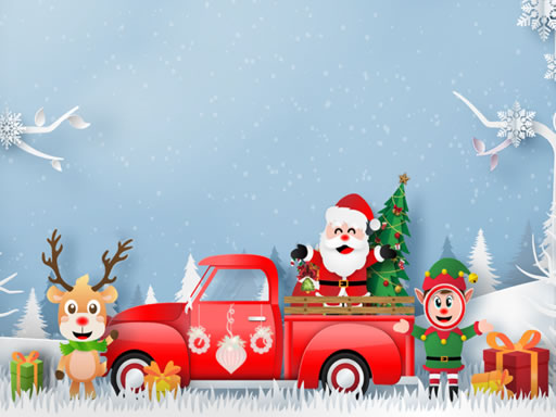 Play Christmas Trucks Differences Game