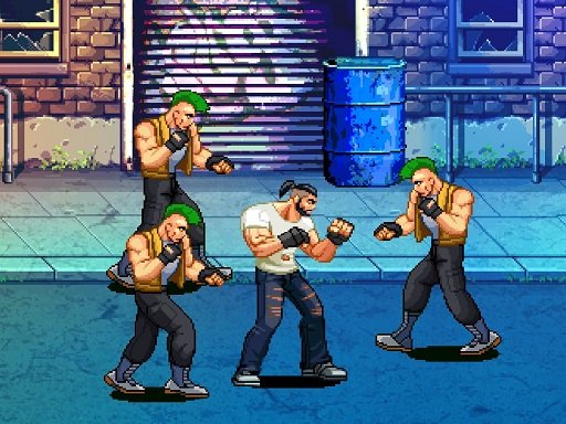 Play Beat Em Up Street Fight 2D Game