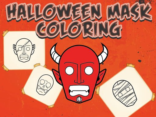 Play Halloween Mask Coloring Book Game