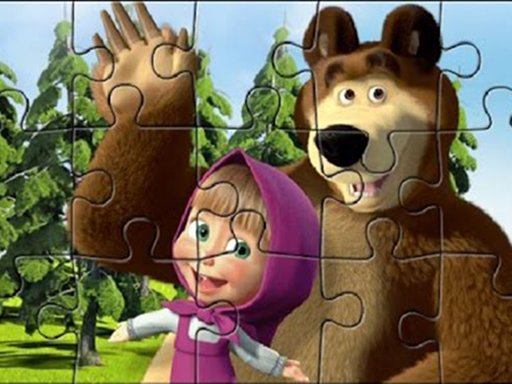 Play Masha Puzzle Time Game