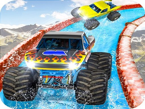 Play Monster Truck Water Surfing Game