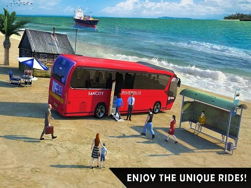 Play Floating Water Surface Bus Racing Game