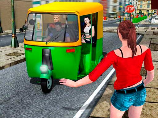 Play Public Tricycle Rickshaw Driver Game