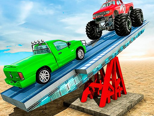 Play SeeSaw Ramp Car Balance Driving Challenge Game