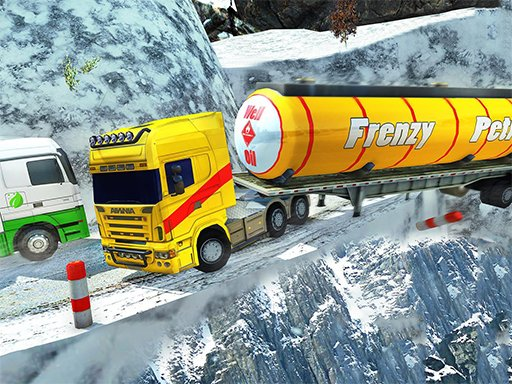 Play Extreme Winter Oil Tanker Truck Drive Game