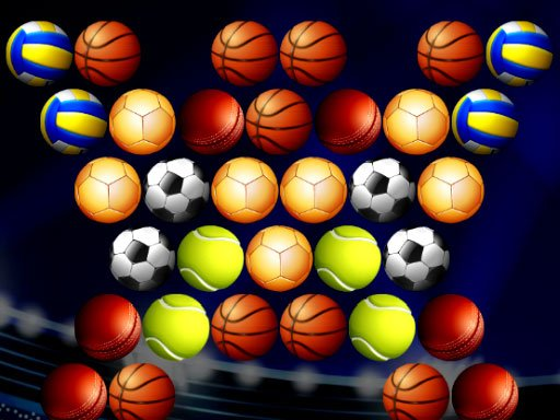 Play Bubble Shooter Golden Football Game