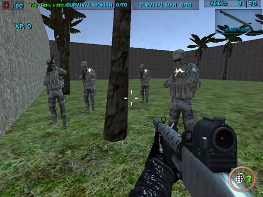 Play Survival Wave Zombie Multiplayer Game