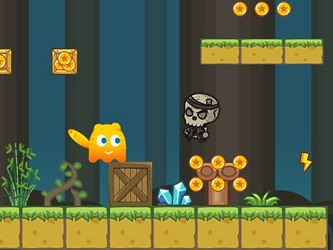 Play Ever Cat In the Skeleton World Game