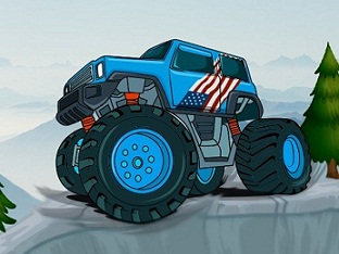 Play Monster Truck Mountain Climb Game
