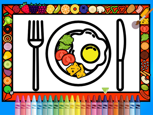 Play Color And Decorate Dinner Plate Game